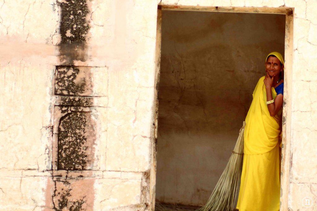 mujer en jaipur