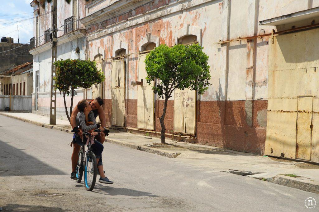 pareja de la bici