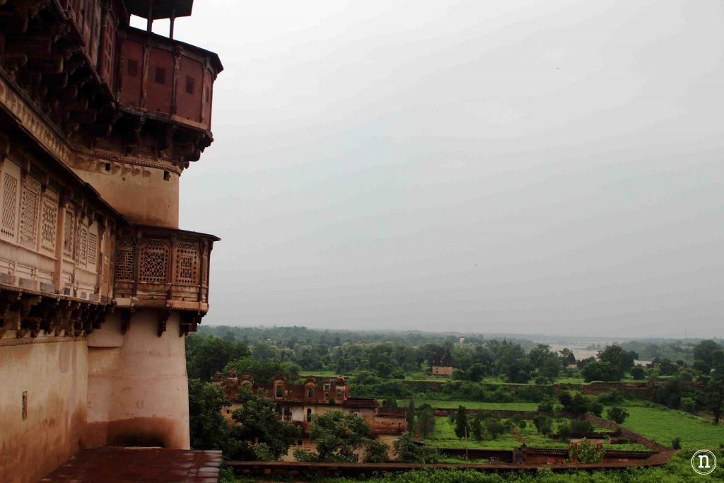 vistas del rio betwa desde jahangir mahal orchha