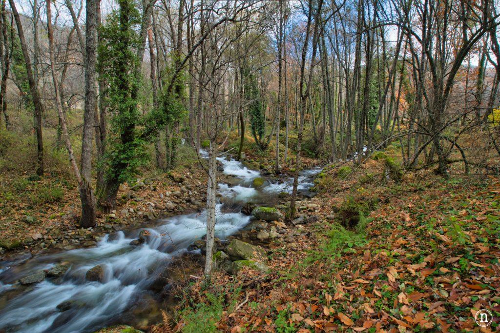 rio ambroz y rio horcajo agua sedosa fotografía de viajes
