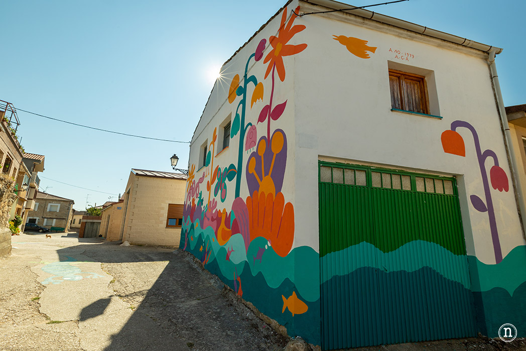 mural nuevo tubilla del lago